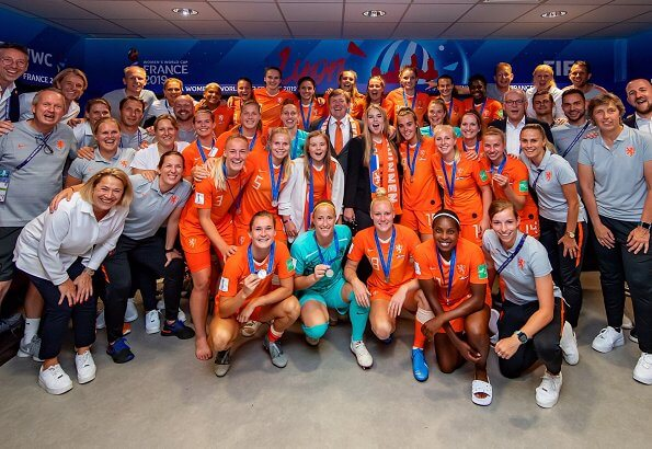 King Willem-Alexander, Crown Princess Amalia and Princess Ariane attended FIFA Women's World Cup 2019 final match
