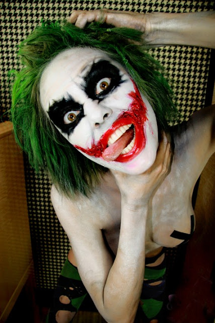 Body Painted Joker cosplay