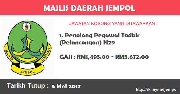 Jawatan Kosong di Majlis Daerah Jempol