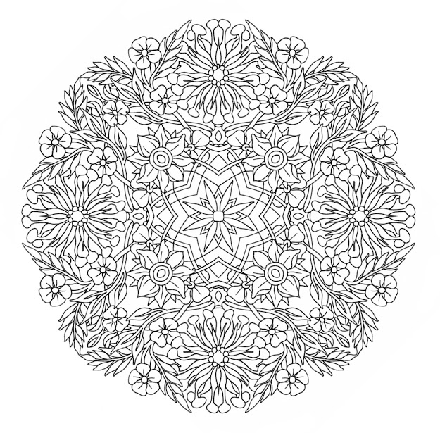 Mandala Coloring Pages Expert Level With Aefbbbdcd