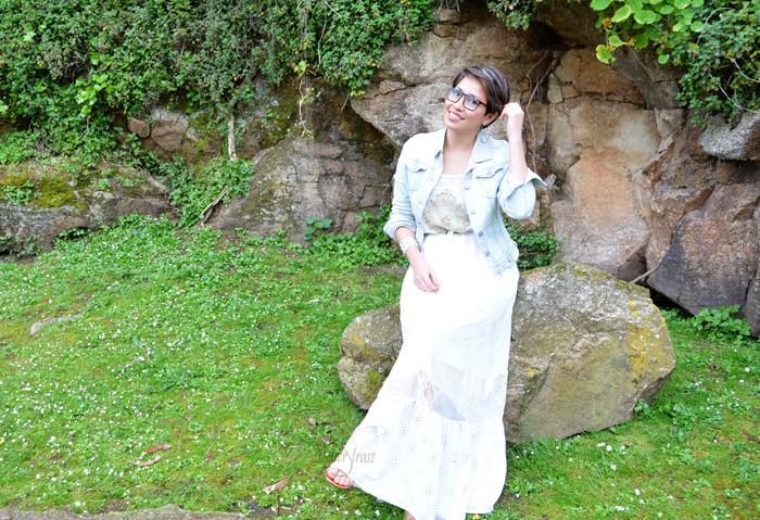 vestido con denim