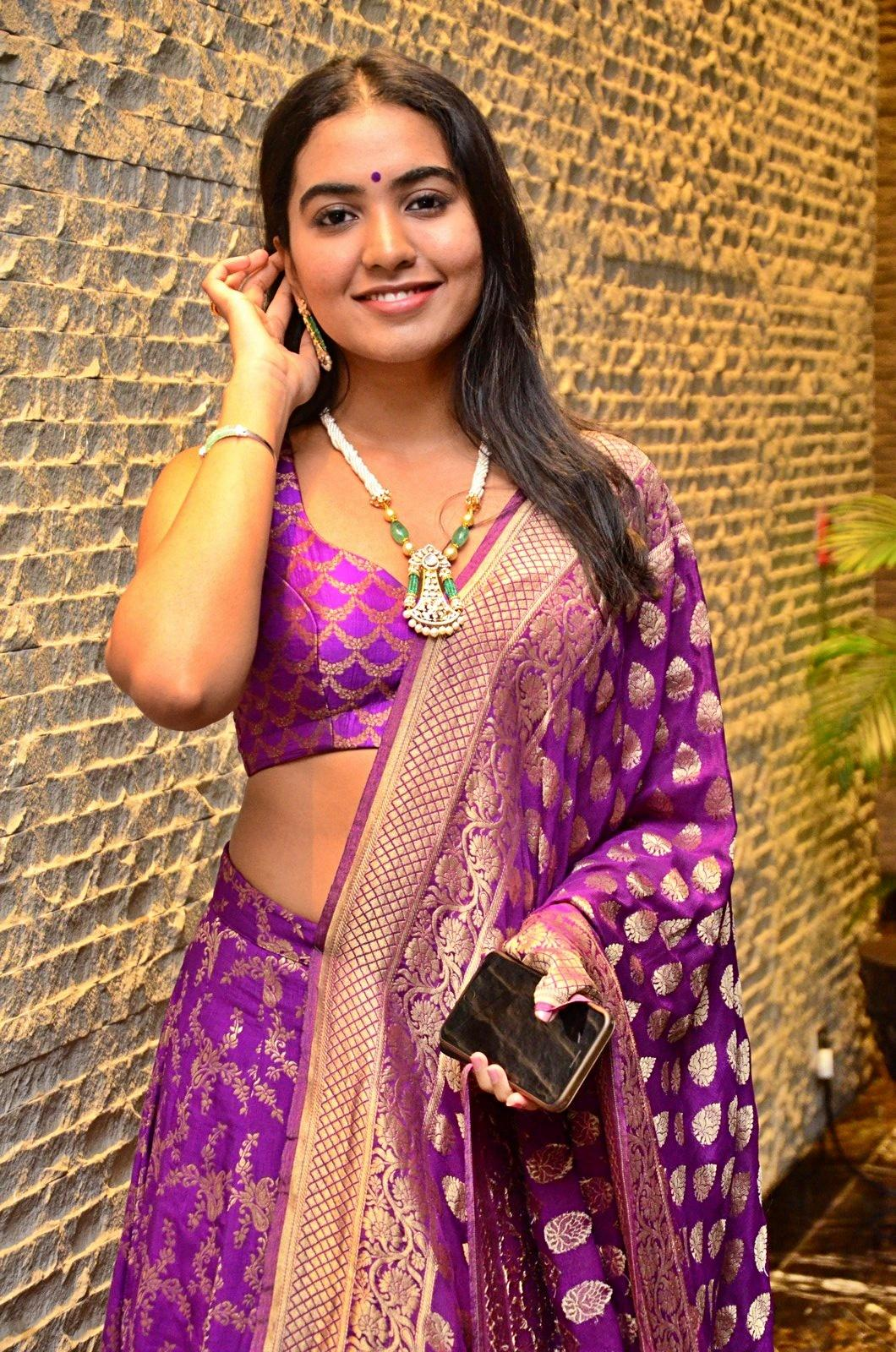 Telugu Dorasaani Movie Actress Shivathmika Rajashekar Latest Hot Stills  Gagra Choli