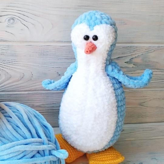 1000 схем амигуруми на русском: Вязаный пингвин крючком