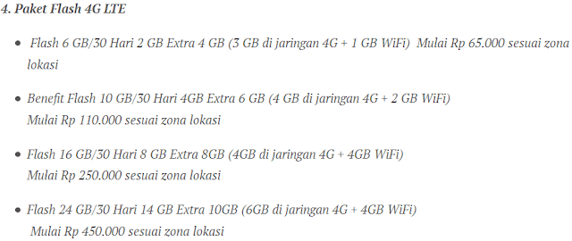 Paket Flash 4G LTE Simpati