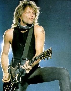 Foto del cantante Jon Bon Jovi en el escenario