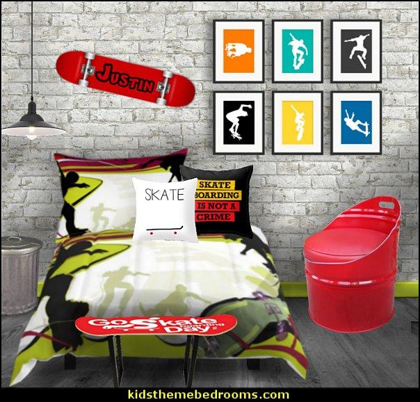Graffiti wall murals - skateboarder bedroom decorating ideas - Skateboard bedroom decorations - skateboarding theme bedroom decorating ideas - graffiti wallpaper murals - graffiti wall designs - graffiti bedrooms furniture - graffiti wall decals - Urban grunge  theme bedroom ideas -