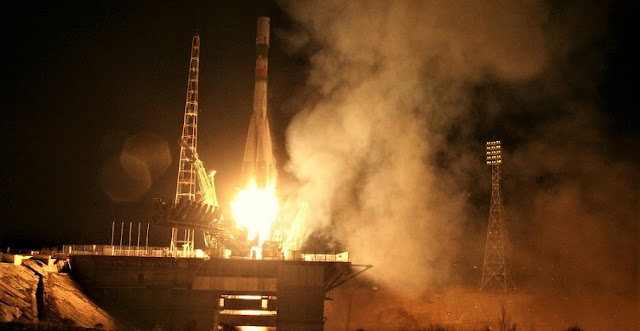 Soyuz-U / Progress MS-04 launch. Photo Credit: Roscosmos