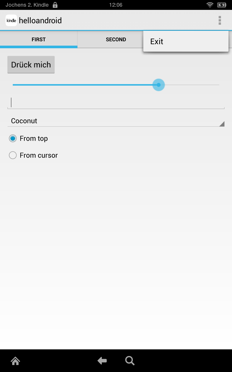 QtQuickControls style for Android in Qt5 4 - First touch