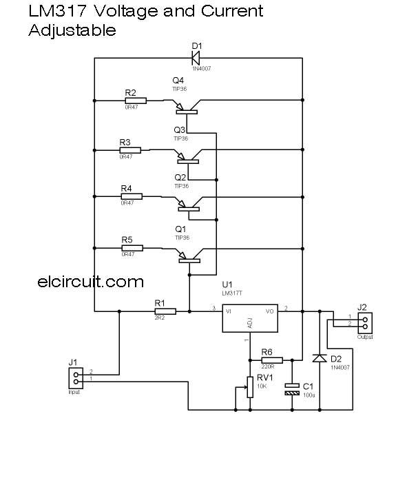 lm317%2Bpower%2Bsupply Radio S V Transformer Wiring Diagram on