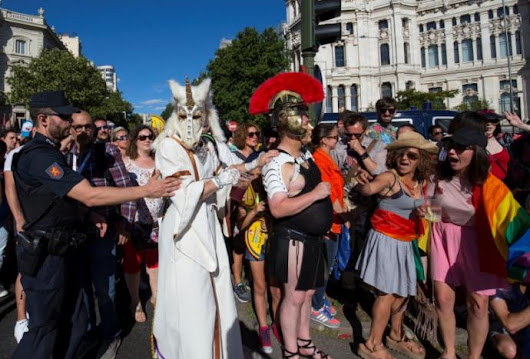 Hundreds of thousands gather for LGBT rights in Madrid