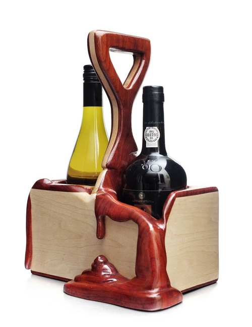 05-Wine-Caddy-Alan-Gwizdowski-Surreal-Salvador-Dali-Wood-Furnishings-www-designstack-co
