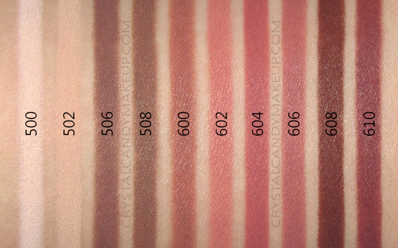 Make Up For Ever Artist Color Pencils MUFE Swatches 500 502 506 508 600 602 604 606 608 610