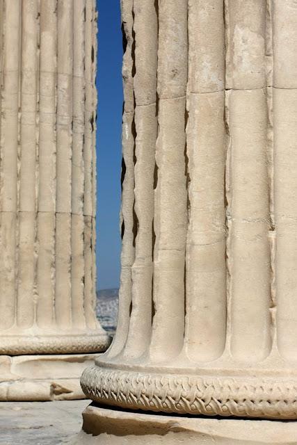 Marble columns of the Parthenon Acropolis, Athens Greece