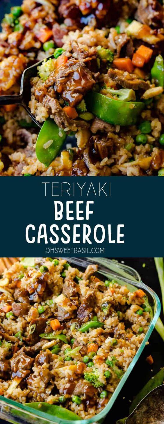 TERIYAKI BEEF CASSEROLE #BEEF #CASSEROLE #DINNER
