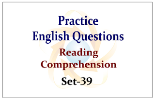 Practice English Questions (Reading Comprehension)