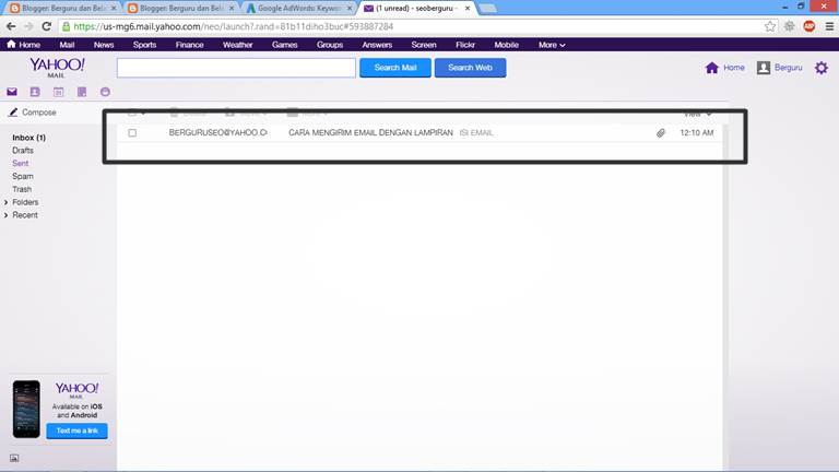Cara Mengirim Email Lewat Yahoo dengan Lampiran 7