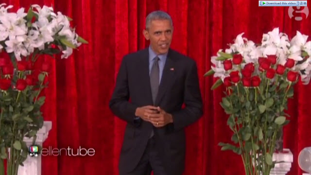 President Obama woos Michelle with Valentine's Day poem on Ellen show