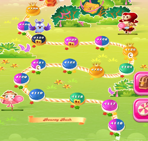 Candy Crush Saga level 4116-4130