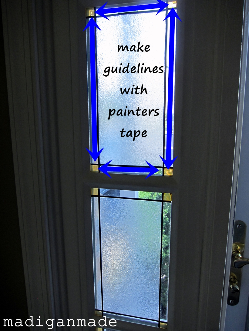 Make your own faux stained glass foyer window - Rosyscription