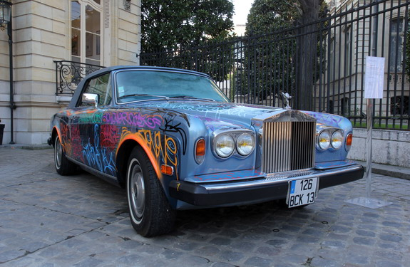 Rolls-Royce car owned by football great Éric Cantona is displayed at the Artcurial auction house