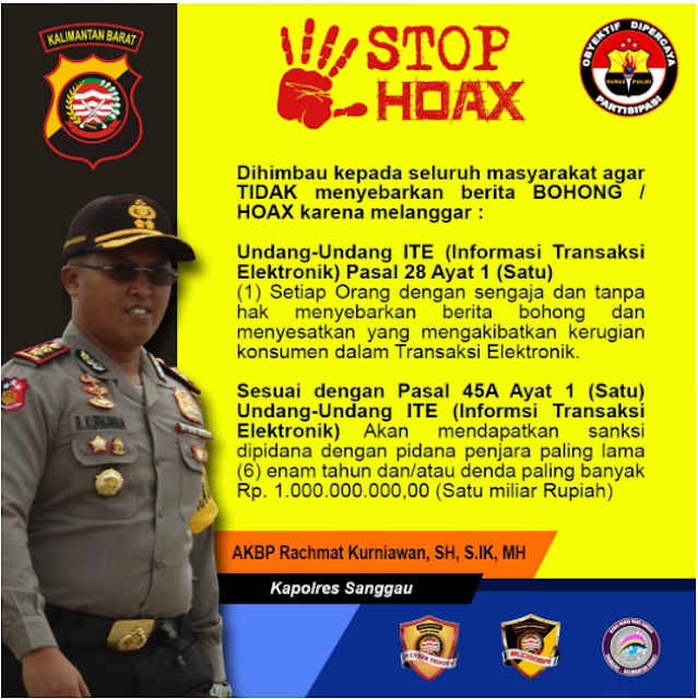 Himbauan Kapolres Sanggau : Stop HOAX