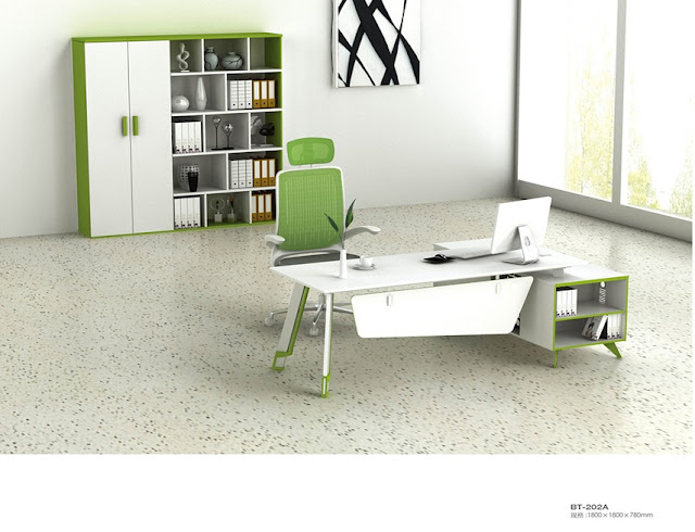 best buy white green modern office furniture Naperville IL for sale