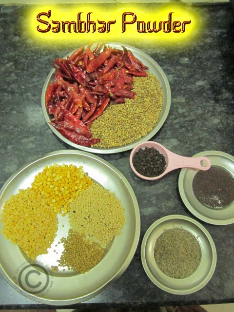 how-to-make-sambar-powder-at-home
