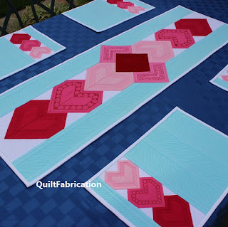 Heart-Valentine-Pink-Table-Runner-Quilt Pattern