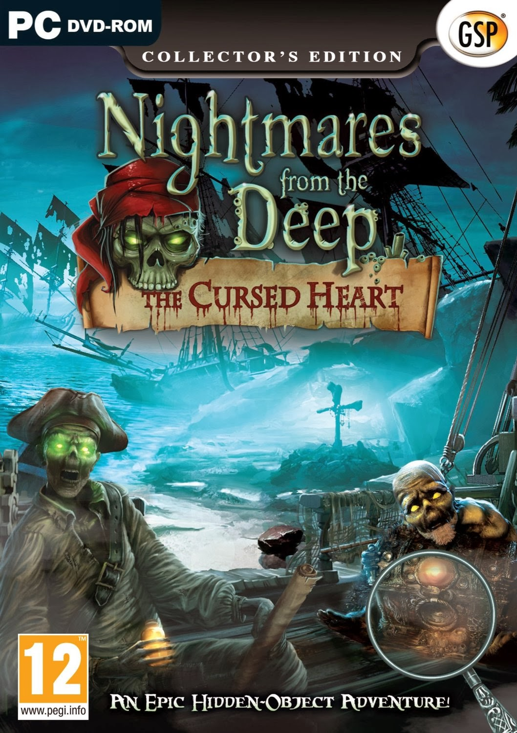 Cover Caratula Nightmares From The Deep The Cursed Heart PC