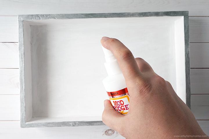 DIY Vanity Tray with Mod Podge Ultra