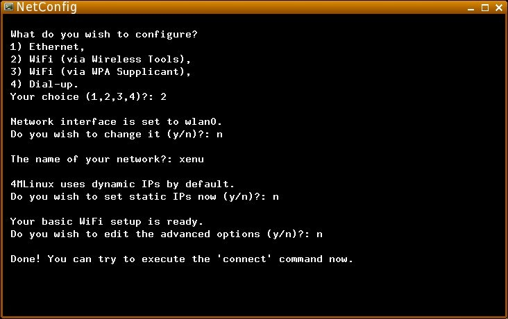 4MLinux Blog: WiFi setup in 4MLinux
