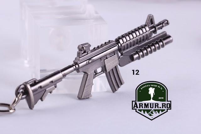 breloc arma automata m16 replica airsoft