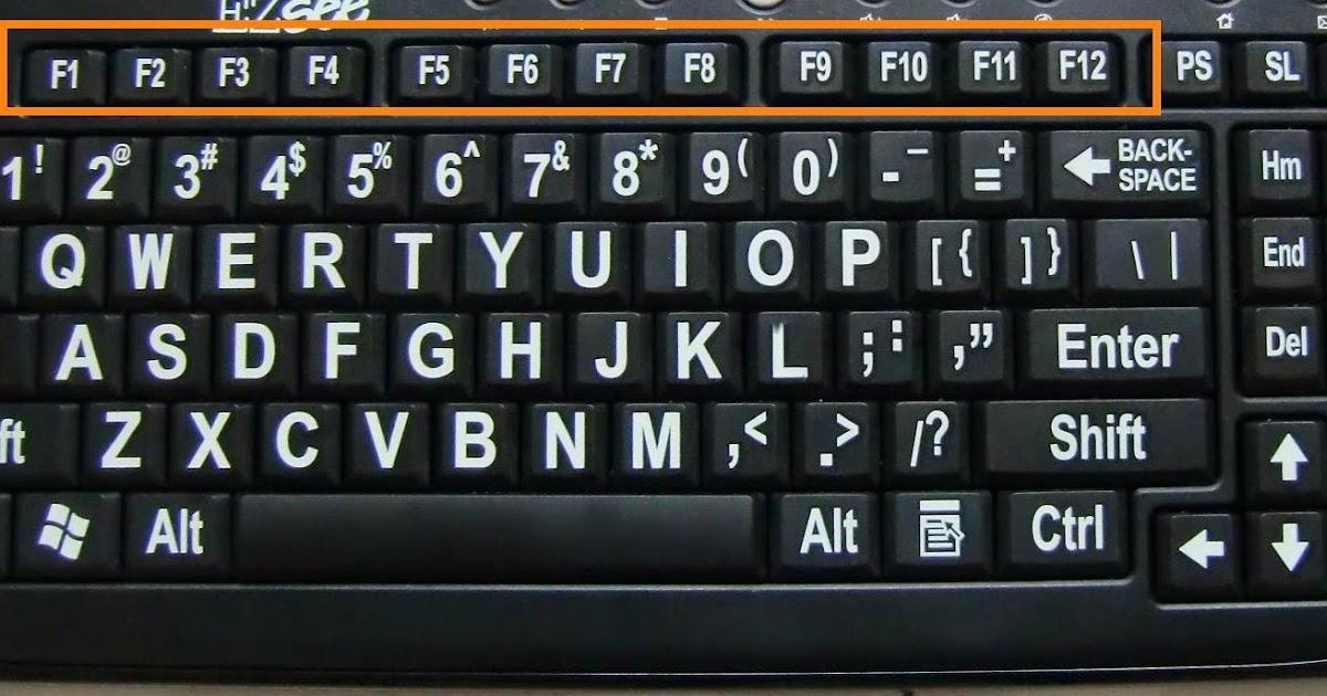 Kegunaan Umum Tombol F1 F12 Di Windows