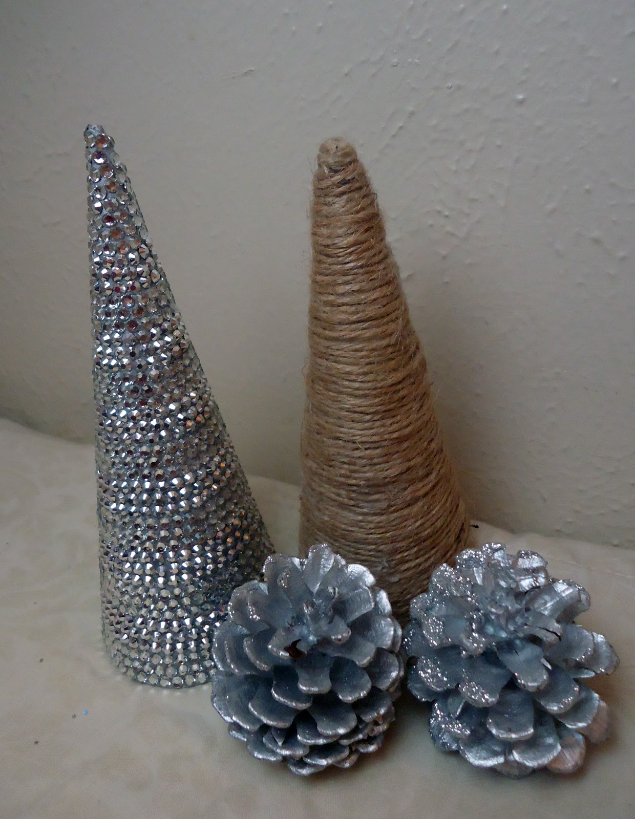 Frugal Home Design: DIY Cone Shaped Christmas Trees