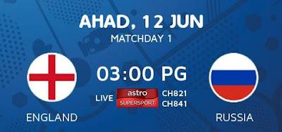 Live Streaming Keputusan England Vs Russia EURO 2016