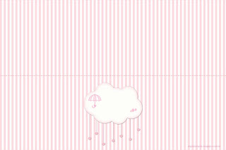 Pink Rain of Blessings or Rain of Love: Free Printable Candy Bar Labels.