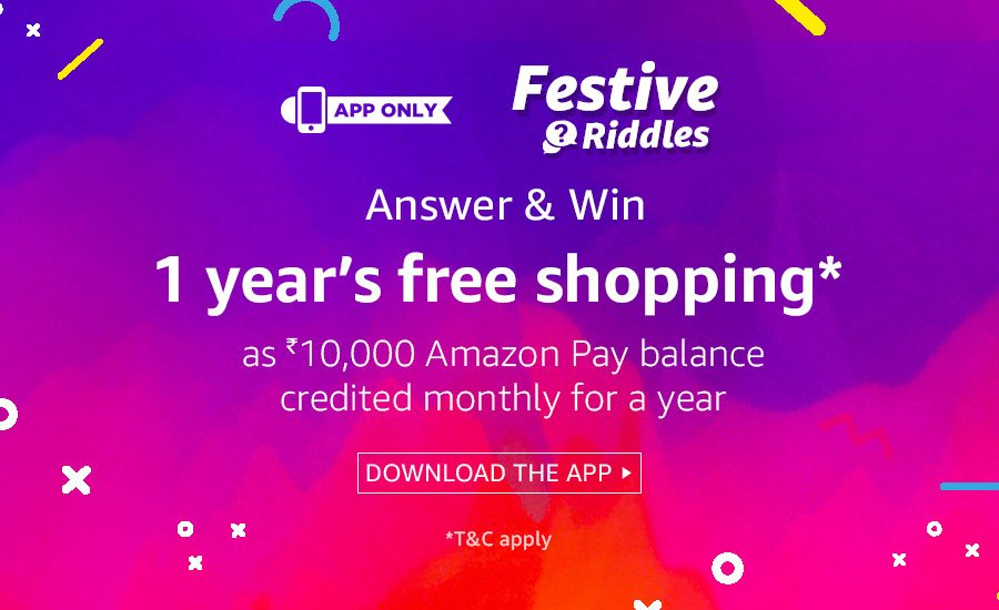 All Answers Of Amazon Festive Riddles Quiz To Win 1 Year Free Shopping Wap5 Amazon Flipkart Offers And Discounts