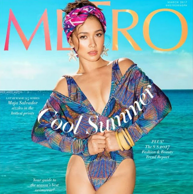 Maja Salvador Metro magazine March 2017 cover