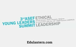 3rd ASEF Young Leaders Summit in Belgium Fully Funded