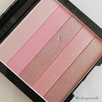 Revlon Highlighting Palette Rose Glow Review Swatch