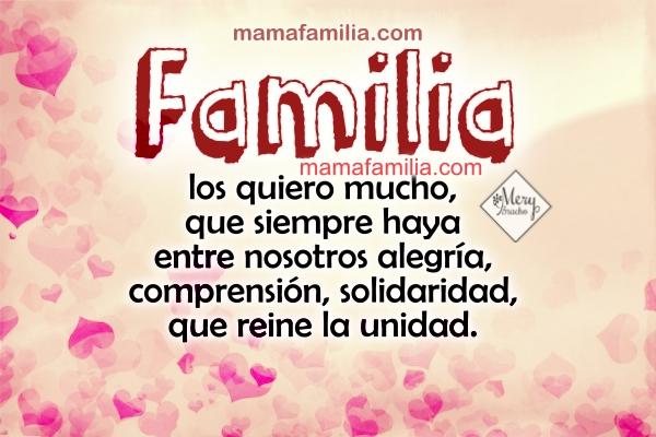 Frases para la familia. imágenes con frases para mi bella familia, hermanos, padres, para facebook por Mery Bracho
