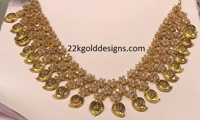 CZS Antique Mango Necklace