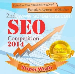 Kontes SEO 2nd Berhadiah Uang dari Superwash
