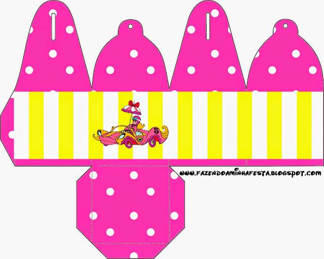 Caja para cupcakes, chocoltes o golosinas de Penelope Glamour Retro.
