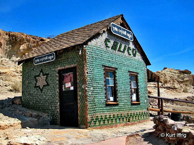 This house is constructed from 5000 bottles and was inspired by a house made from bottles in Ryolite, Nevada.