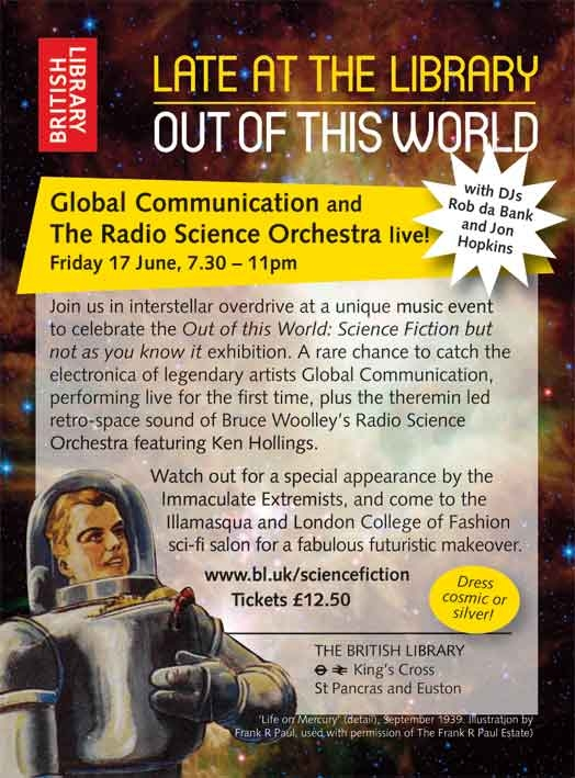 OUT OF THIS WORLD! music and sci fi glamour at the British
