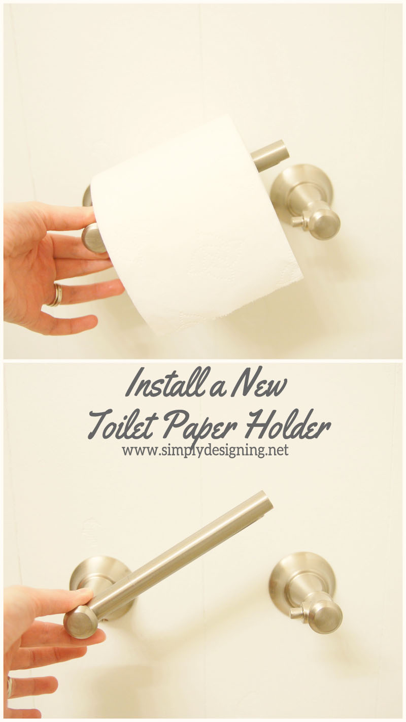 How to Install a New Toilet Paper Holder | #diy #bathroom #bathroomremodel #remodel