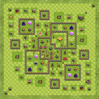 War Base Town Hall Level 9 By Francesco Moscatiello (La Catedral TH 9 Layout)
