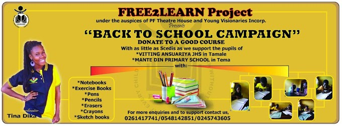 """Free2Learn """"Back To School Campaign"""" Project"""