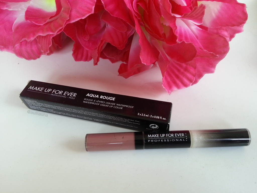 """MUFE AQUA ROUGE """"SOFT PINK"""" Waterproof Liquid Lip Color (Holiday Collection)"""